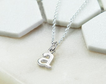 Personalised Sterling Silver Initial Letter Necklace