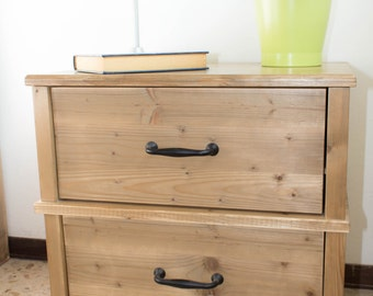 Wood bedside table
