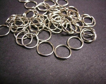 100pc 11mm antique silver jump ring gauge 19-1443