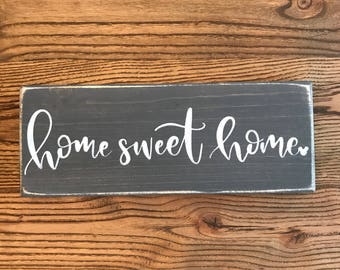 Home Sweet Home Wood Sign with Hidden Mickey