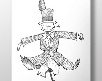 Turnip Head - Miyazaki Fan Art - A4 Print