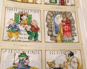 Fairy Tales Book Panel by Tidings of Great Joy for Quilting Treasures-J. Wecker-Frisch