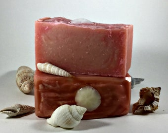 Wild Rose Soap / Natural Homemade with Cocoa Butter, Geranium, Rose Scented Soap, Cold Process Soap, Glycerin Soap, Zero Waste