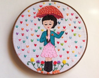 Embroidered Art Hoop - Sprinkled with Love