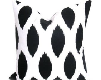 15% Off Sale Black Pillow, Decorative Pillow, Pillow Covers,Black Pillow Cover. Decorator Throw Pillows. Printed Fabric on both sides
