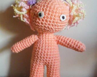 Crochet Doll, Purple Bows