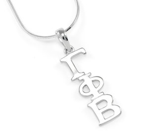 Gamma Phi Beta Sterling Silver Lavaliere // Sorority Jewelry // Sorority necklace // Sorority lavaliere // Gifts for her // ΓΦΒ Accessories