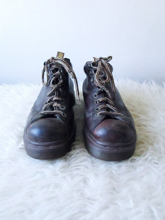 in DOC 6 AIRWARE Size MARTENS Leather Brown Vintage 5 Chunky 90s Booties Wms Ankle Heel Boots Made England BxCwqvE1EU