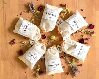 Tub Tea 6Pack Gift Set  ~ Chamomile, Rose, Lavender, Jasmine and more