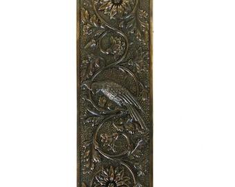 Parrot Push Plate Bird Motif Door Hardware Vintage Restoration Replica Aged Bronze  sc 1 st  Etsy & The Bridgeman Aged Bronze Passage Door Hardware Set