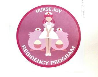 Nurse Joy Residency Program Pokemon Inspired Sticker | Hand Made Sticker | Pokemon Sticker