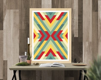 Aztec Print - Wall Art Decor - Digital Download