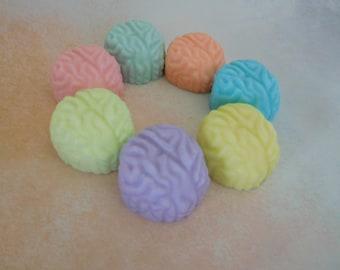 Brain Soaps - Zombie Soap - Brain Soap Favor - Halloween Favors - Gag Soap -  Med School Grad Gift - Anatomy Soap - Science Favors - 5 pk