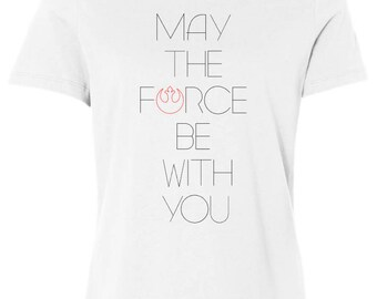 The Force - Women's Short Sleeve Tee Shirt - Inspired by Star Wars Rebels and Jedi - made by So Effing Cute