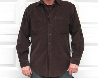 Corduroy Shirt . The Territory Ahead . Size L  men . Chocolate Brown Corduroy Shirt . corduroy jacket