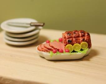 Dollhouse Miniature Roast With Lemon