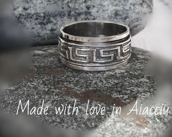 spinning ring silver STERLING 925 high quality man