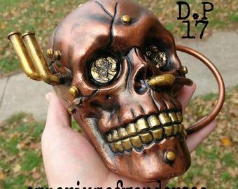 Steampunk skull.