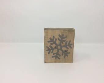 Snowflake Block, Snowflake Decor, Winter Decor