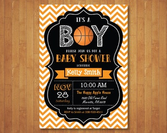 Superb Basketball Baby Shower Invitation. Boy Baby Shower Invitation. Sports Baby  Shower Invite. Chalkboard