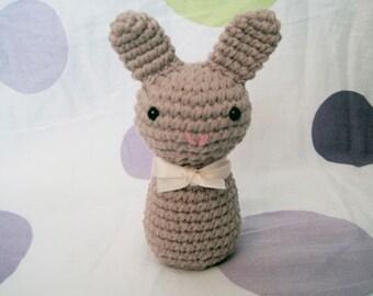 Chocolate Neapolitan Bunny-Amigurumi Bunny