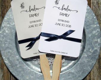 Wedding  Fans | Formal Wedding Fans | Personalized Fans | Unique Wedding Fans | Summer Wedding Fans |  Wedding Paper Fans