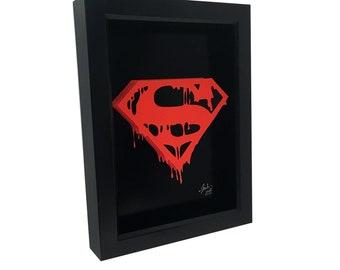 Death of Superman Doomsday Logo 3D Art Superman Logo Man of Steel Superman Shield Superman Print Superman Poster Comic Bood Art Comis Art