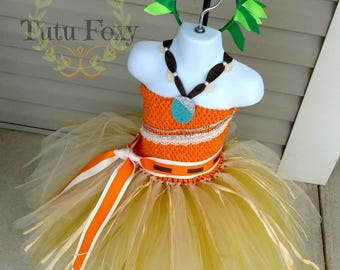 Moana Tutu Dress, Moana Inspired Costume, Moana Birthday, Princess Birthday, Princess Costume, Princess Dress
