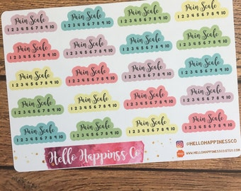 Pain Tracking Stickers - Planner Stickers - Functional Stickers