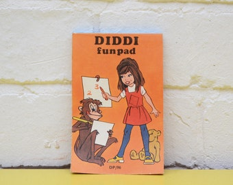 Vintage Diddi Funpad, Children's Activity Book, Mini Colouring Book, Kid's Activity Book, 70's Activity Book, Rainy Day Activity Book