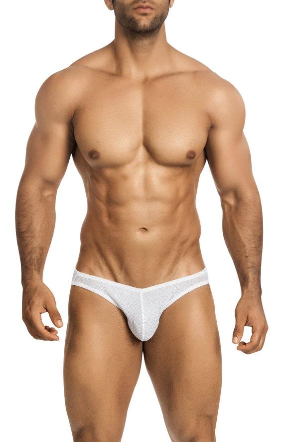 Navy & White Asymetrical Swim Bikini for Men by Vuthy Sim 15-1 3cz9vQnB