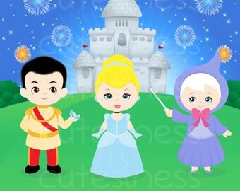 Cinderella Digital Clipart, Princess Digital Clipart, Princess Clipart