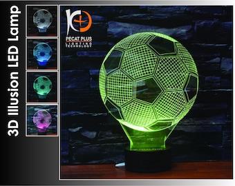 3D Optical Illusion Lamp   3D Soccer Ball  Shaped Lamp   3D Lamp