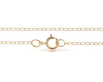 """14Kt Gold Filled  2.2x1.5mm 20"""" Flat wire cable chain - 1pc Finished chain Wholesale Price (4159)/1"""