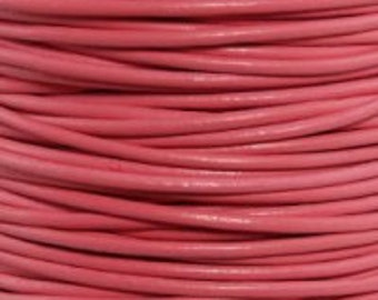 Round Leather Cord, 3mm Leather Cord, Leather Cord, Cord Jewelry, 3mm Cord Jewelry, Leather Bracelet, Leather Necklace, Colorful Leather