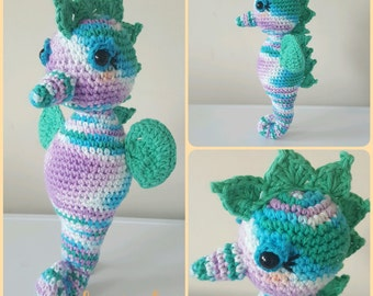 SHELDON THE SEAHORSE Crochet Pattern - Amigurumi Pdf Instant Download
