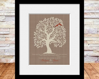 """Customized Thank You Gifts, """"Roots and Wings"""" Quote, Gifts for Parents, Quote for Parents, Thank You Gifts, Appreciation Gifts"""