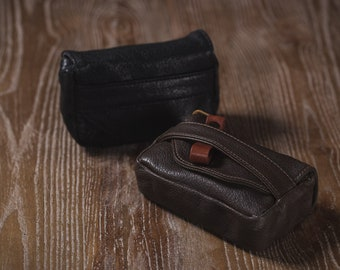 Premium Edition BLACK Toscana goatskin Leather Handmade hand crafted hand stitch Camera bag Protector Ricoh GR2 sony rx100 Made to Order