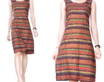 Knee length (M42) print Babydoll dress