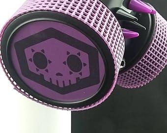 Sombra inspired by Overwatch game Black Respirator Cosplay Cyberpunk Gothic Bondage Masks Anime Alternative Accessories