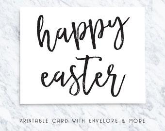 easter card, happy easter card, printable easter card, digitla easter card, modern gift card, easter card download