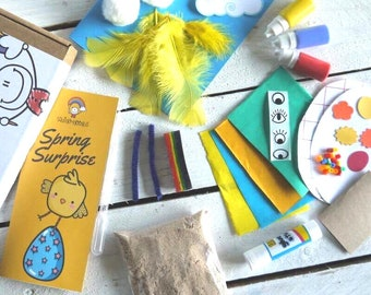 Craft Activity Box | Spring Surprise Children's Craft Box, Kids Craft, Craft Activities, Imaginative Craft Activities