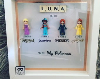 Little Girls Lego You are my princess frame for girls bedrooms - Disney Princess's
