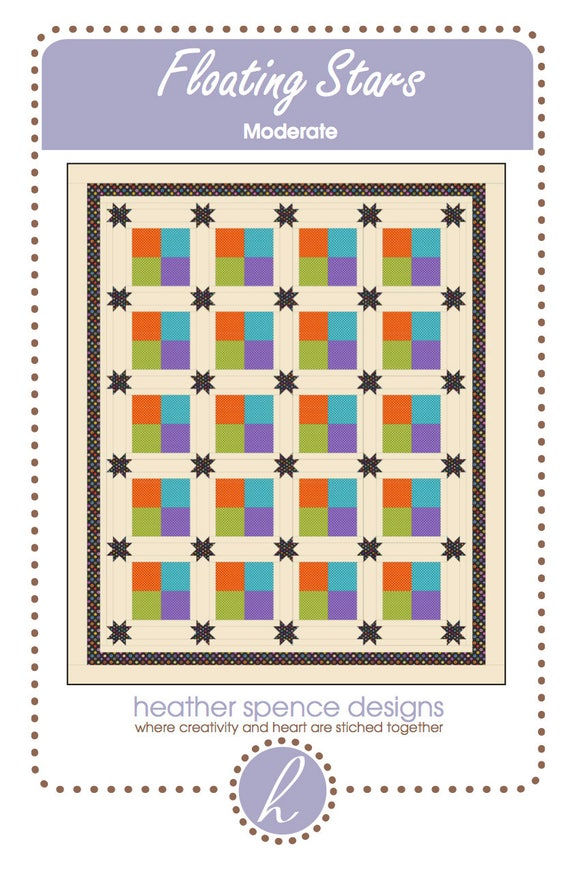 Star Quilt-Four Patch Quilt-Ohio Star Quilt-Traditional Quilt-Floating Stars Quilt-Charm Pack Quilt