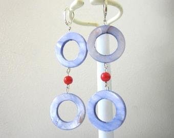 Periwinkle Blue Shell Earrings
