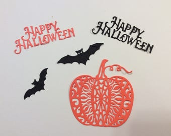 Handmade, Halloween, Happy Halloween, Lacey Pumpkin, Bats, Sizzix