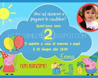 Tinkerbell party invitation card peppa pig birthday invitation card stopboris Gallery