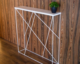 console table sofa table entryway table narrow recycled