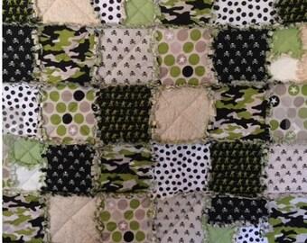 Military Rag Quilt/ Boys rag quilt