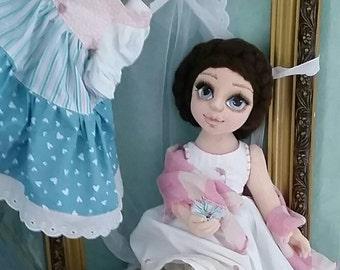 Poupée fait main Art Doll chiffon poupée Textile Puppe processus Puppe Tilda Puppe Stoff Puppe